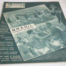 Coleccionismo deportivo: PERIODICO BARÇA Nº133 BRASIL CAMPEON MUNDIAL 1958. Lote 61631956