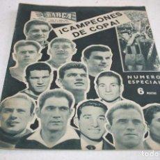 Coleccionismo deportivo: PERIODICO BARÇA Nº184 JUNIO 1959 ESPECIAL CAMPEONES COPA. Lote 61751576