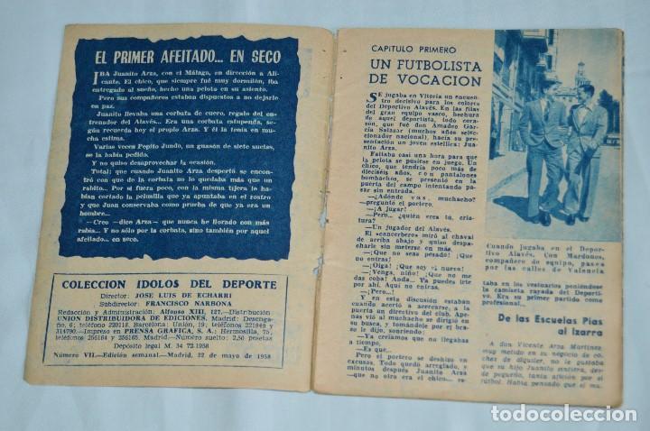 Coleccionismo deportivo: COLECCIÓN ÍDOLOS DEL DEPORTE - Nº 7 - ARZA - 1958 - MUY ANTIGUO - MEJOR VER FOTOS! - Foto 3 - 95879290