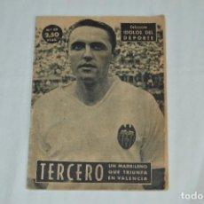 Coleccionismo deportivo: COLECCIÓN ÍDOLOS DEL DEPORTE - Nº59 - TERCERO - 1959 - MUY ANTIGUO - MEJOR VER FOTOS!. Lote 62514512