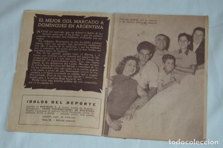 Coleccionismo deportivo: COLECCIÓN ÍDOLOS DEL DEPORTE - Nº 80 - DOMINGUEZ - AÑOS 50 - MUY ANTIGUO - MEJOR VER FOTOS! - Foto 3 - 62514712