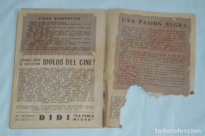 Coleccionismo deportivo: COLECCIÓN ÍDOLOS DEL DEPORTE - Nº 80 - DOMINGUEZ - AÑOS 50 - MUY ANTIGUO - MEJOR VER FOTOS! - Foto 7 - 62514712