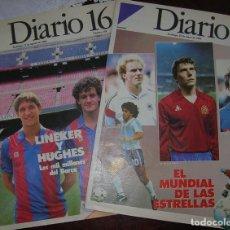 Coleccionismo deportivo: DIARIO 16 SEMANAL NÚMEROS 244 MAYO 1986 Y 258 AGOSTO 1986. Lote 62594020