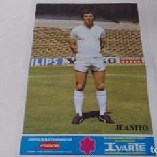 Coleccionismo deportivo: POSTER DEL REAL MADRID CORRAL JUANITO. Lote 63110376
