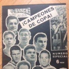 Coleccionismo deportivo: REVISTA BARÇA Nº184 NUMERO 25 JUNIO 1959 CAMPEON FINAL COPA GENERALISIMO BARCELONA 4-1 GRANADA. Lote 63253884