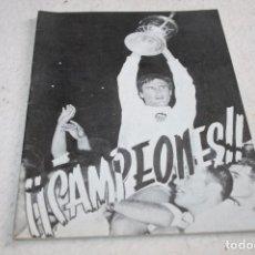 Coleccionismo deportivo: PROGRAMA FÚTBOL VALENCIA CAMPEÓN COPA GENERALISIMO 1967. Lote 63327856