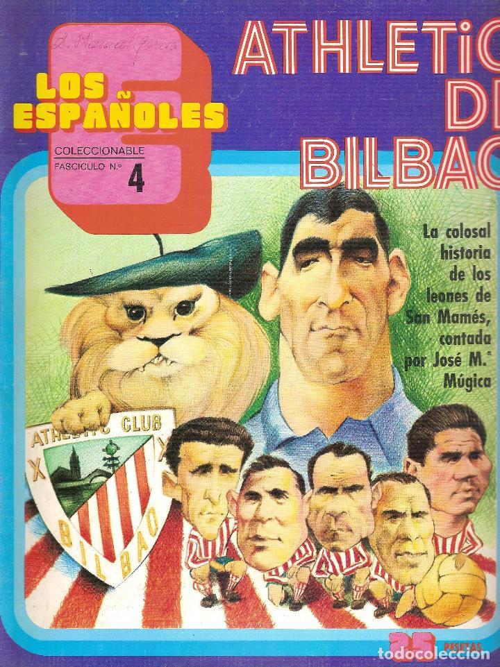 LOS ESPAÑOLES. COLECCIONABLE Nº 4. ATH. BILBAO (Coleccionismo Deportivo - Revistas y Periódicos - otros Fútbol)