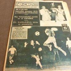 Coleccionismo deportivo: REVISTA LEAN(4-8-69)GRANOLLERS 1 BARÇA 2,HOMENAJE GALLEGO,COPA GALEA TENIS,GRAN TOUR FRANCIA.. Lote 63728951