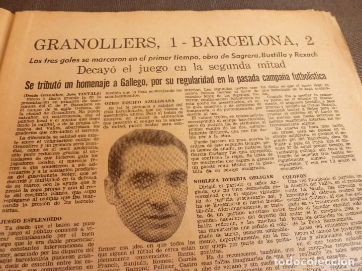 Coleccionismo deportivo: REVISTA LEAN(4-8-69)GRANOLLERS 1 BARÇA 2,HOMENAJE GALLEGO,COPA GALEA TENIS,GRAN TOUR FRANCIA. - Foto 2 - 63728951
