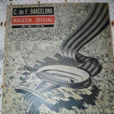 Coleccionismo deportivo: 10 EJEMPLARES DEL BOLETIN OFICIAL DEL FUTBOL CLUB BARCELONA. Lote 65780370