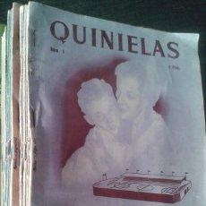Coleccionismo deportivo: REVISTA QUINIELAS, PRIMERA TEMPORADA COMPLETA, NÚMEROS 1 A 26 (LIGA 1952-1953). Lote 65969666