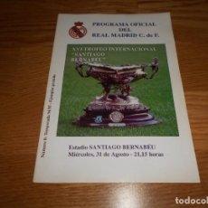 Coleccionismo deportivo: PROGRAMA XVI TROFEO INTERNACIONAL SANTIAGO BERNABEU REAL MADRID PALMEIRAS BRASIL 1994 1995 Nº 0. Lote 67188165