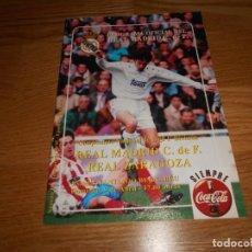 Coleccionismo deportivo: PROGRAMA OFICIAL REAL MADRID CF. TEMPO 94/95 REAL ZARAGOZA Nº 19. Lote 67197969