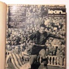 Coleccionismo deportivo: LEAN REVISTA DEPORTIVA DE LOS LUNES 1956-1961 ENCUADERNADAS EN 1 TOMO (KUBALA, DIESTEFANO). Lote 68629057