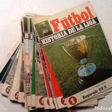 Coleccionismo deportivo: HISTORIA DE LA LIGA 38 FASCICULOS DEL 1 AL 40 RAMON MELCON 1928-1951. Lote 70008257