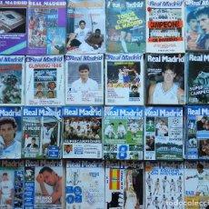 Coleccionismo deportivo: LOTE 228 REVISTAS REAL MADRID BOLETIN OFICIAL - COLECCION COMPLETA 19 AÑOS REVISTA DE 1980 A 1998. Lote 70023257