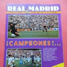 Coleccionismo deportivo: REVISTA OFICIAL REAL MADRID Nº 361 1980 II EPOCA CAMPEON LIGA 79/80-FINAL COPA DEL REY CASTILLA. Lote 70061977