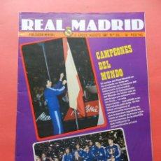 Collectionnisme sportif: REVISTA OFICIAL REAL MADRID Nº 375 1981 II EPOCA CAMPEON MUNDO BALONCESTO FERNANDO MARTIN-CARCELEN. Lote 70078845