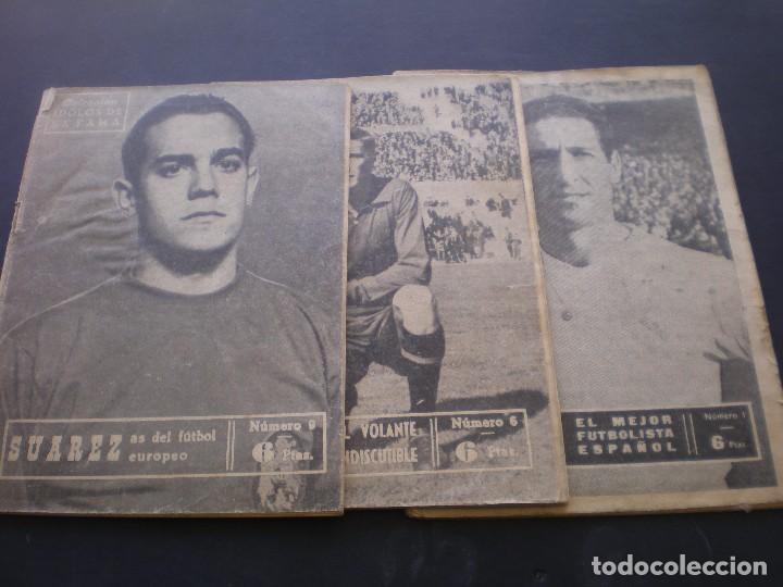 REVISTA DE FUTBOL, IDOLOS DE LA FAMA, AÑOS 60, TRES EJEMPLARES (Coleccionismo Deportivo - Revistas y Periódicos - otros Fútbol)
