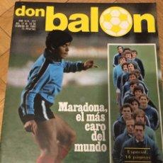 Collectionnisme sportif: DON BALON # 227 (18-2-1980) MARADONA ESPECIAL REAL SOCIEDAD ARCONADA NOTTINGHAM BARCELONA. Lote 71060473