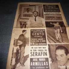 Coleccionismo deportivo: DICEN(13-4-66)HOY COPA EUROPA R.MADRID-INTER Y PARTIZAN BELGRADO-MANCHESTER,GENTO(R.MADRID). Lote 71387435