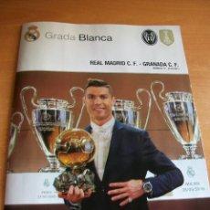 Coleccionismo deportivo: REAL MADRID - GRANADA GRADA BLANCA 07/01/2017 POSTER CAMPEONES MUNDIAL CLUBES FIFA. Lote 115414719