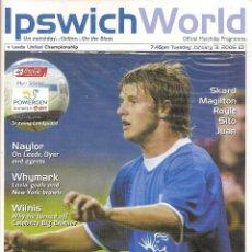 Coleccionismo deportivo: PROGRAMA IPSWICH TOWN V. LEEDS UNITED (TEMP. 2005/06 05/06). Lote 71832575