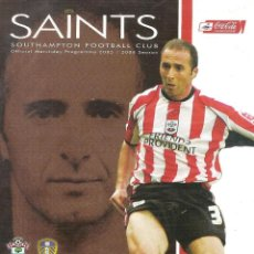 Coleccionismo deportivo: PROGRAMA SOUTHAMPTON V. LEEDS UNITED (TEMP. 2005/06 05/06). Lote 71833123