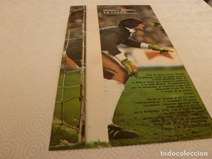 Coleccionismo deportivo: 10 RECORTES PRENSA MIGUEL ANGEL(REAL MADRID)-LOTE 2-VER FOTOS. - Foto 10 - 72115291