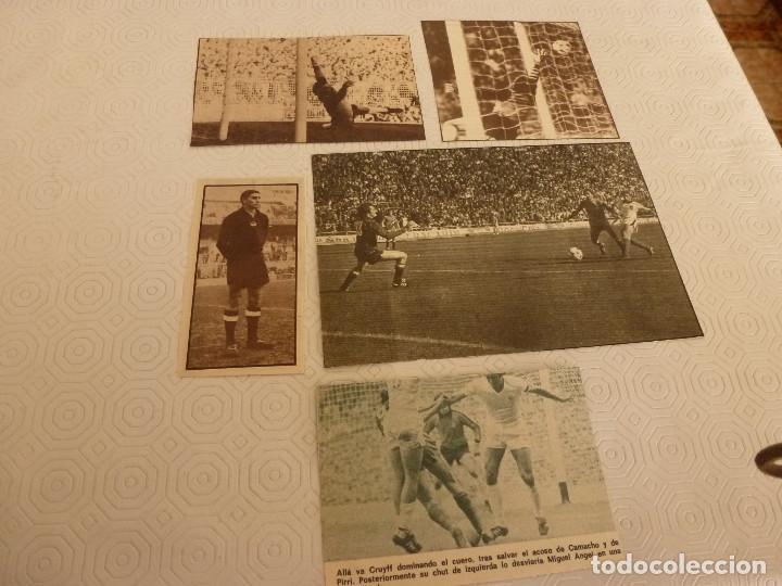 Coleccionismo deportivo: 10 RECORTES PRENSA MIGUEL ANGEL(REAL MADRID)-LOTE 6-VER FOTOS. - Foto 2 - 72116935