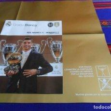 Coleccionismo deportivo: GRADA BLANCA JORNADA 17 REAL MADRID GRANADA PÓSTER CAMPEÓN MUNDIALITO 2016. REGALO MOSAICO CRISTIANO. Lote 72167670
