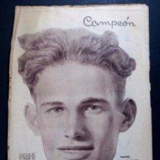 Colecionismo desportivo: REVISTA DE FÚTBOL CAMPEÓN Nº 128 - PORTADA CICLISMO GUSTAAF GUSTAVO DELOOR - 19 MAYO 1935. Lote 73015799