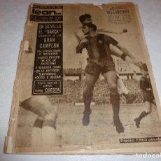 Coleccionismo deportivo: LEAN(1-2-60)NICOLÁS CASAUS(PEÑA SOLERA)SEVILLA 0 BARÇA 3!!!ESPAÑOL 0 VALENCIA 2. Lote 73654775