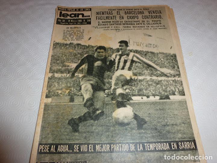 LEAN(28-3-60)!!BETIS 0 BARÇA 3 !!ESPAÑOL 3 SEVILLA 1 (Coleccionismo Deportivo - Revistas y Periódicos - otros Fútbol)