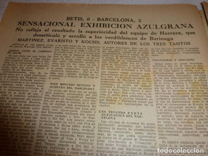 Coleccionismo deportivo: LEAN(28-3-60)!!BETIS 0 BARÇA 3 !!ESPAÑOL 3 SEVILLA 1 - Foto 2 - 73655183