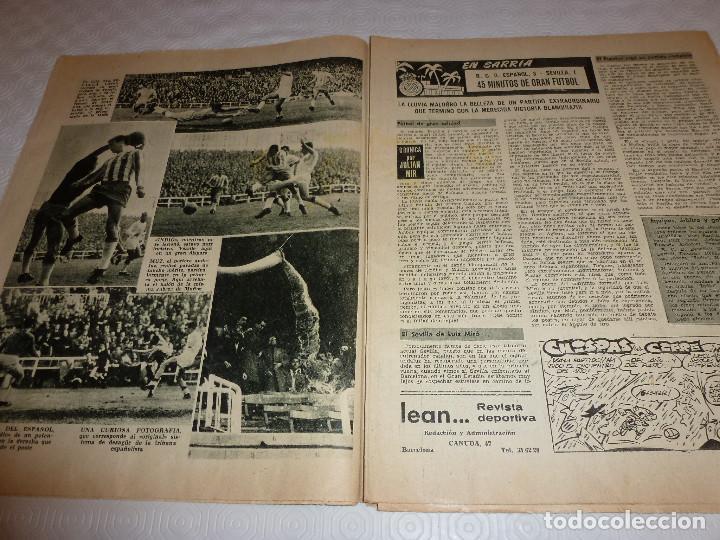 Coleccionismo deportivo: LEAN(28-3-60)!!BETIS 0 BARÇA 3 !!ESPAÑOL 3 SEVILLA 1 - Foto 4 - 73655183