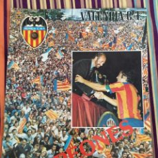 Coleccionismo deportivo: REVISTA OFICIAL VALENCIA VERANO 1979 CAMPEONES DE COPA DEL REY POSTER EQUIPO ALINEACION. Lote 73808875