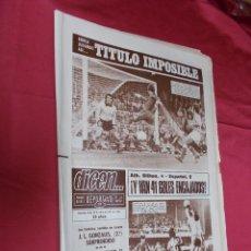 Coleccionismo deportivo: DICEN. BARCELONA 1- BETIS 0. ATH. BILBAO 4 - ESPAÑOL 0. Nº 4031. 30 ENERO 1978.. Lote 74167479