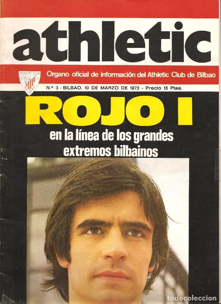 REVISTA ATHLETIC Nº 3, ÓRGANO OFICIAL DEL ATHLETIC CLUB BILBAO, DE 1973 (Coleccionismo Deportivo - Revistas y Periódicos - otros Fútbol)