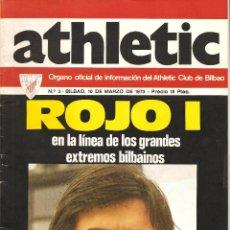 Coleccionismo deportivo: REVISTA ATHLETIC Nº 3, ÓRGANO OFICIAL DEL ATHLETIC CLUB BILBAO, DE 1973. Lote 74190815