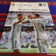 Coleccionismo deportivo: GRADA BLANCA JORNADA 20 REAL MADRID REAL SOCIEDAD SAN SEBASTIÁN 29-1-17. PÓSTER LUCAS VÁZQUEZ. MBE.. Lote 74410223