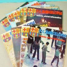 Coleccionismo deportivo: 10 EJEMPLARES DEL BOLETÍN OFICIAL INFORMATIVO DEL F.C. BARCELONA. 1975-76. Nº 46 AL 56.. Lote 74804743