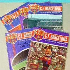Coleccionismo deportivo: 5 EJEMPLARES DEL BOLETÍN OFICIAL INFORMATIVO DEL C.F. BARCELONA. AÑO II. Nº 5 - 9. ABRIL-SEPT. 1971. Lote 74809415