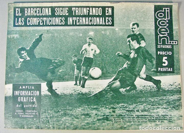 DICEN. Nº 367. 12 DE DICIEMBRE DE 1959. BARCELONA 3 BELGRADO 1. BUEN ESTADO. (Coleccionismo Deportivo - Revistas y Periódicos - otros Fútbol)