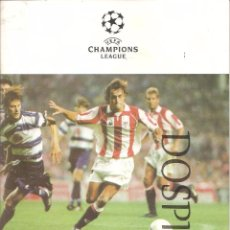 Coleccionismo deportivo: PROGRAMA OFICIAL ATHLETIC CLUB BILBAO - ROSENBORG, CHAMPIONS LEAGUE 09-1998, SAN MAMES. Lote 75082059