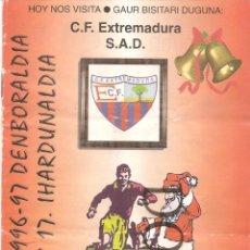 Collectionnisme sportif: PROGRAMA DEL PARTIDO ATHLETIC BILBAO -EXTREMADURA-SAN MAMES 1996/1997, JORNADA 17ª. Lote 75256607