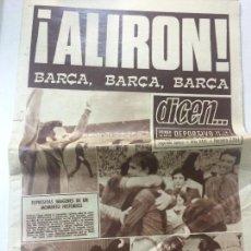 Coleccionismo deportivo: DIARIO DICEN FC BARCELONA CAMPEÓN LIGA 1973-74, 8 ABRIL 1974, NUM. 2851, JOHAN CRUYFF BARÇA.. Lote 75287415