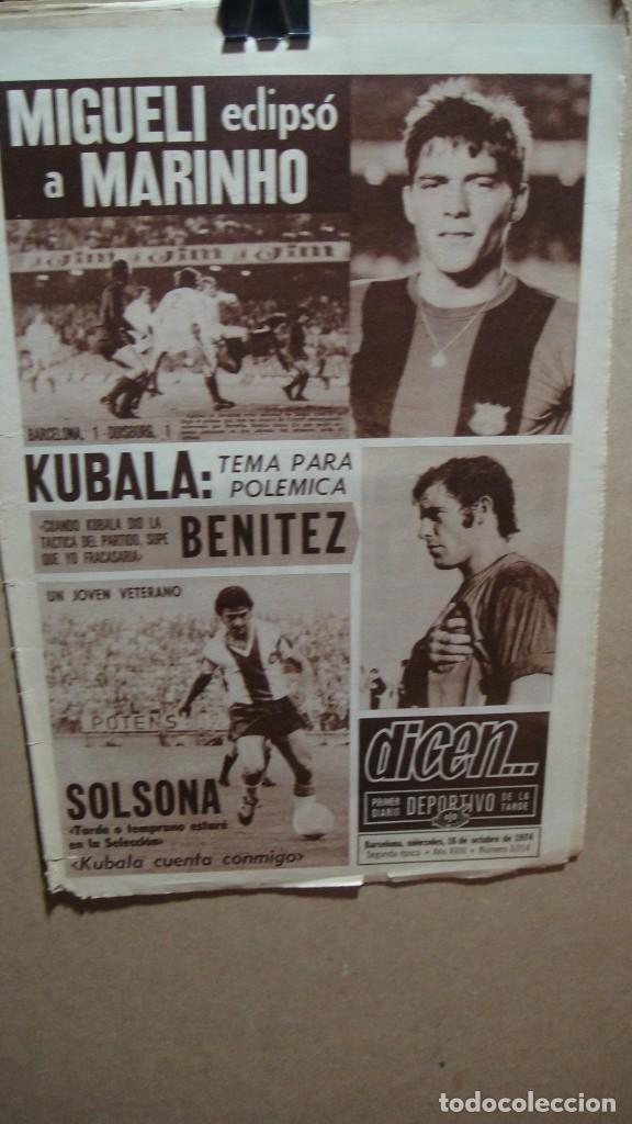 PERIODICO DICEN - OCTUBRE DE 1974 - KUBALA (Coleccionismo Deportivo - Revistas y Periódicos - otros Fútbol)