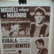 Coleccionismo deportivo: PERIODICO DICEN - OCTUBRE DE 1974 - KUBALA. Lote 76702587