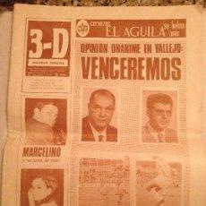 Coleccionismo deportivo: PERIODICO DEPORTIVO 3D 1967. Lote 76771699
